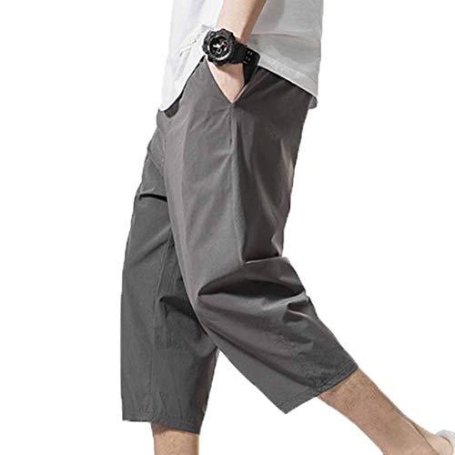 LanfengEU Pantalon Cargo pour Hommes Hanche Hanche Longueur Mollet Sarouel Pantalon de Jogging Respirant d'été Pantalon de survêtement Streetwear