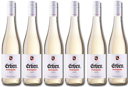 Erben Grauburgunder Trocken – Weißwein aus Deutschland – Qualitätswein – 6 x 0.75 l