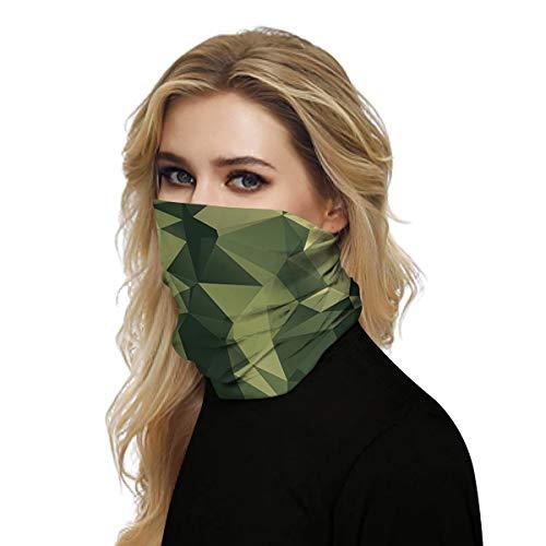 Gepersonaliseerde sport Anti-stof gezichtsbedekking Camouflage bedrukte Bandanas magische sjaal met vochtafvoerende stof voor zonnewind Zand - Bestand tegen 99,9% ultraviolette stralen,B