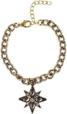 SataanReaper Presents Charm Charm Bracelet for Girls and Women (Golden)#Sr-4186