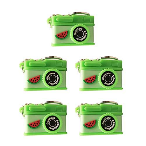 PRETYZOOM 5Pcs Llavero Del Encanto de La Cámara Llaveros Creativos Llavero Del Fotógrafo Clips de La Mochila Goodie Bag Purse Bag Charm (Color Aleatorio)