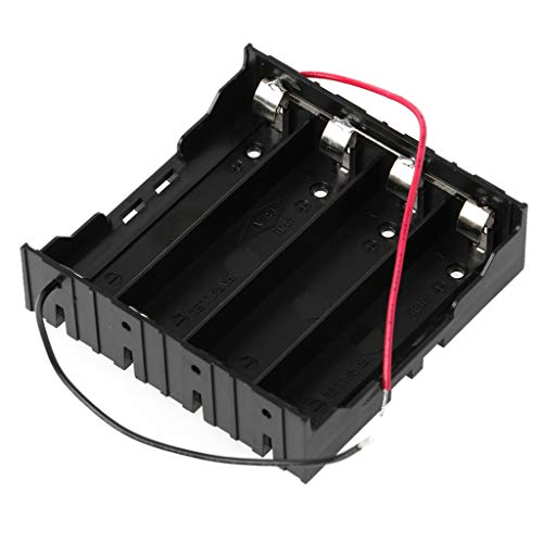 Ydhsja 3.7V Parallel 3X 4X 18650 Pilas Soporte Caja de Almacenamiento Contenedor con Cable