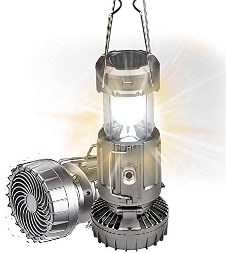Linterna solar de camping, linterna portátil LED,ventilador solar al aire libre, luz de camping con ventilador, resistente al agua, adecuado para senderismo al aire libre, camping, pesca, emergencias