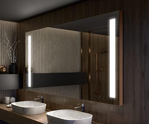 Artforma Premium Espejo de Baño con Iluminación LED - 200x100 - Luz Espejo de Pared con Accesorios - Diferentes tamaños - retroiluminado Iluminado - L02