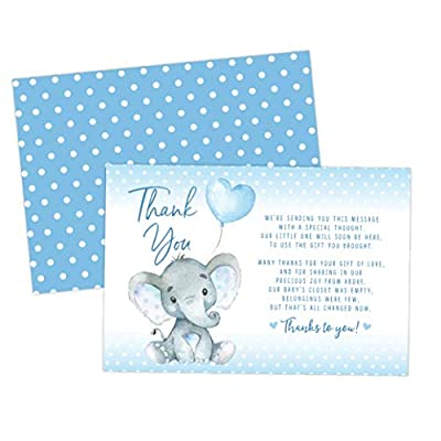 Elephant Baby Shower Thank You Cards 20 Count Including Envelopes by Your Main Event Prints