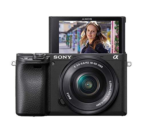 Sony Alpha 6400LB - Cámara compacta de 24.2 MP (Sensor APS-C CMOS Exmor R, montura E, procesador Bionz X, 425 puntos de AF, grabación 4K) - Kit cuerpo con objetivo SELP1650