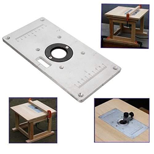 LMIAOM 235mm x 120mm x 8mm Aluminium-Fräser-Tischplatte für Holzbänke Hardware-Zubehör DIY-Tools