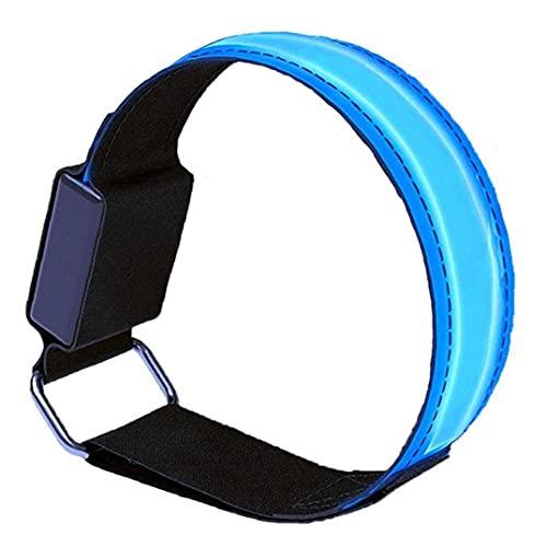 Brazalete LED Deportes Brazalete Luminoso Pulsera Reflectante con Luces Intermitentes para Deportes nocturnos Corriendo Ciclismo Verde