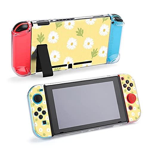 Carcasa protectora para Nintendo Switch, diseño de flores y hierbas, color amarillo