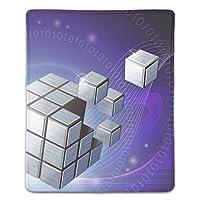 マウスパッド 防塵 耐久性 滑り止め 耐用 ゴム製裏面 軽量 携帯便利 ノートパソコン オフィス用 ゲーム用 (180*220*3mm) キューブ抽象
