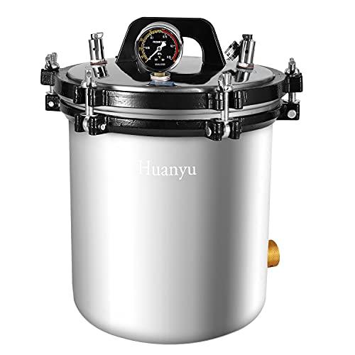 Huanyu 18 l Autoklav Sterilisator Hochdrucksterilisation Dampf-Heizgerät für Laborgebrauch | 0,145–0,165 Mpa | Edelstahl