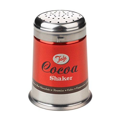 Tala Retro 1960 Cacao Shaker in Acciaio Inox, Rosso
