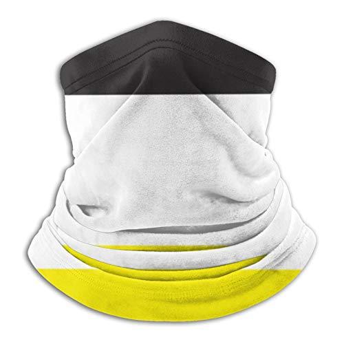 Pañuelo de cuello a rayas amarillas, blancas y negras para la cabeza, bufanda, calentador de cuello, pasamontañas para motocicleta, ciclismo, montar a caballo, correr