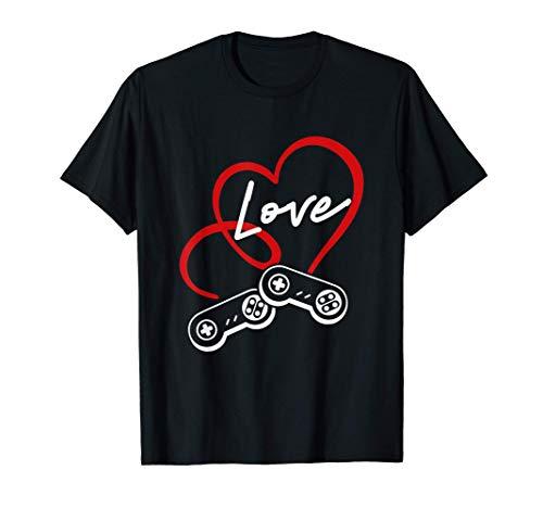 Controladores de juegos para el día de San Valentín Juego Camiseta