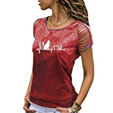 Long Sleeve Blouse Tops Shirt Summer Blouse Deep V-Neck Low Cut Cute Color Tops Flowy Camisole for Women Red