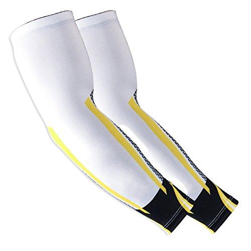 Balight - Running-Armlinge für Damen in Gelb, Größe XL