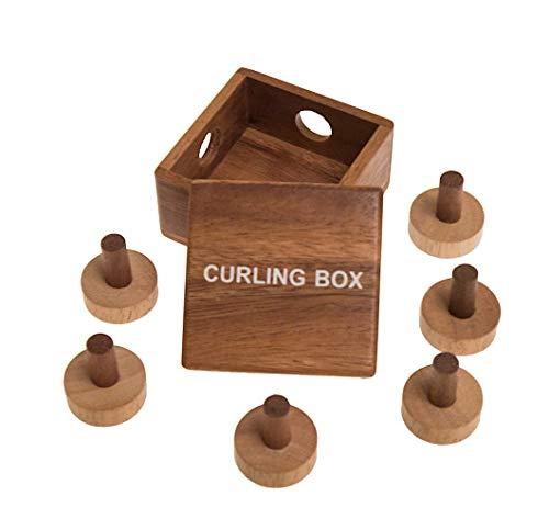 ROMBOL Curling Box, (Dr. Volker Latussek, Deutschland, 2016), Holzspiel, Denkspiel, Knobelspiel, Geduldspiel aus Holz