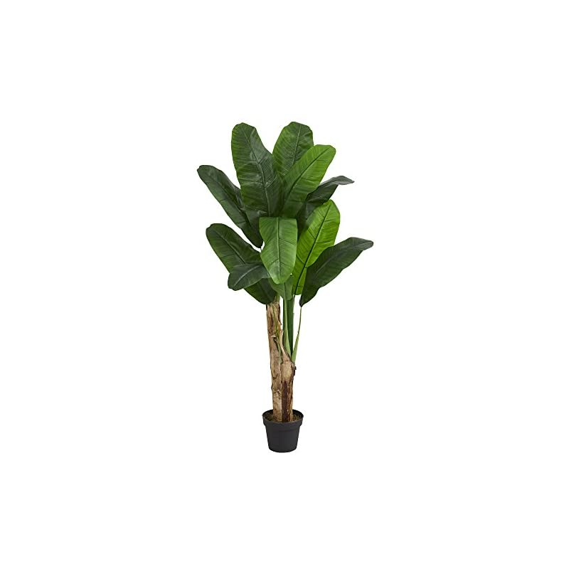 silk flower arrangements nearly natural 5576 4' double stalk banana tree artificial plant green