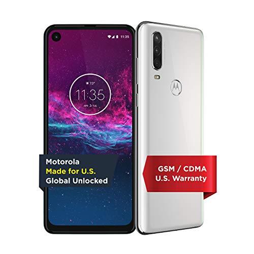 Motorola One Action   Unlocked   Made for US by Motorola   4/128GB   16MP Camera   White