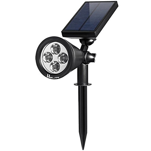 Holan ソーラーライト(第三世代)4LED ガーデンライト 防水 電池不要 夜間自動点灯 屋外の歩道/車道/芝生/庭などの照明用