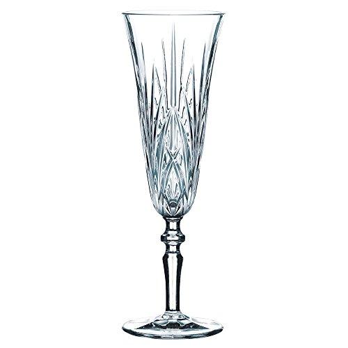 Spiegelau & Nachtmann 6-teiliges Sektgläser-Set, Kristallglas, 140 ml, Palais, 0092953-0