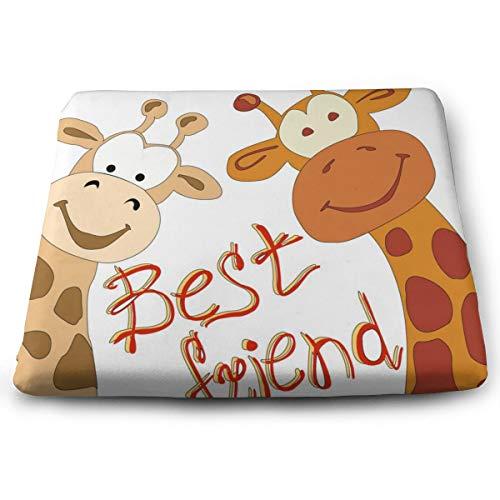 YIXKC Seat Cushion Giraffes Best Friends Chair Cushion Square Cushion Offices Butt Chair Pads Seat Cushion for Home