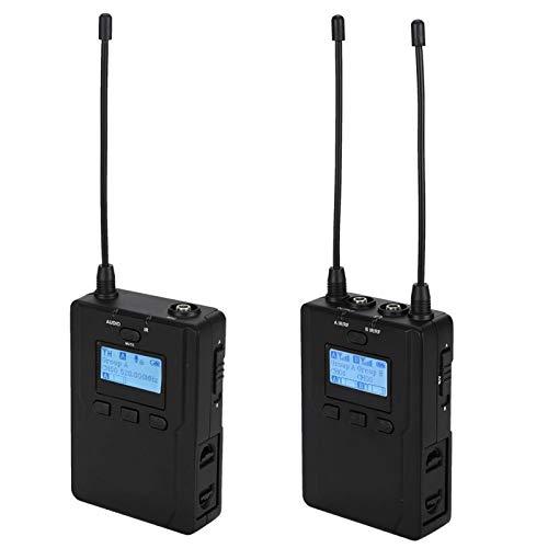 DAUERHAFT Receptor de micrófono inalámbrico Sistema de micrófono inalámbrico UHF, para DSLR