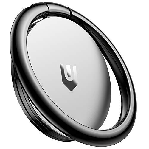 UNBREAKcable スマホリング 携帯リング 360度回転式 薄型 リングホルダー 指リング 落下防止 ホールドリング フィンガーリング iPhone/Android各種他対応(シルバ)