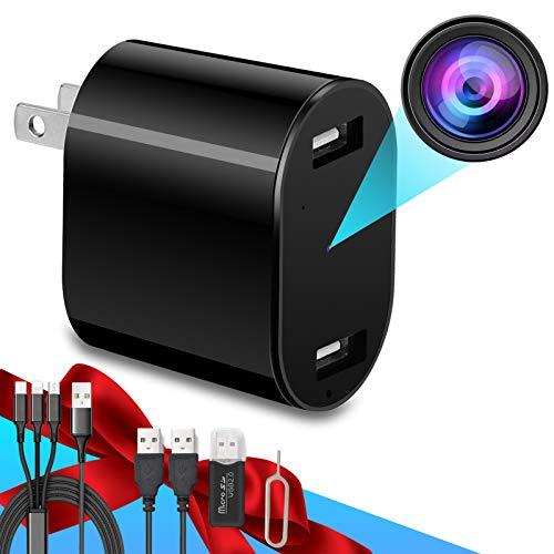 Hidden Camera - HD 1080P - Premium Pack - Motion Detection - USB Hidden Camera - Surveillance Camera - Mini Spy Camera - Nanny Camera - Best Spy Camera Charger - Hidden Camera Charger - Spy Camera