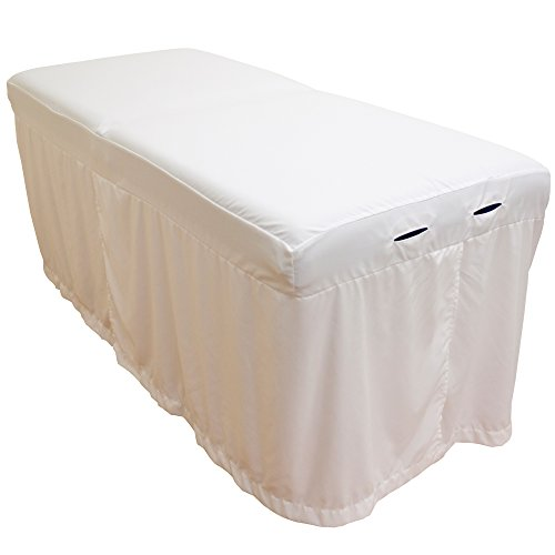 Lightweight Microfiber Massage Table Skirt by Body Linen - White