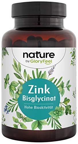 Zink 25mg Hochdosiert - 400 Tabletten Premium Zink-Bisglycinat (Zink-Chelat) - Höchste Bioverfügbarkeit 25mg Elementares Zink aus reinem Zink-Bisglycinat - Laborgeprüfte Herstellung in Deutschland