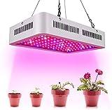 Auveach Lampade per Piante LED 600W Indoor Coltiva Luce Grow Light Luce Coltivazione Semina Crescita per Piante Verdure e Fiori