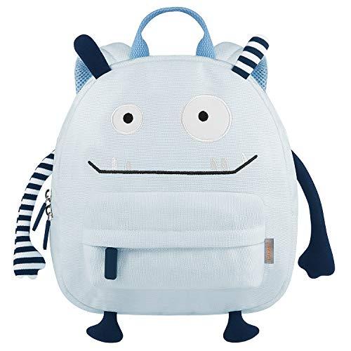 GAGAKU Monster Kinderrucksack Rucksack für Kindergarten Jungen Mädchen 3-6 Jahre alt Vorschulrucksack Schultasche, Baumwolle Blau