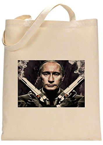 President Putin Hitman Parody Custom Made Tote Bag