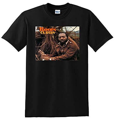 Curtis Mayfield T Shirt Roots Vinyl CD Cover Tee Small Medium L Or XL Black M