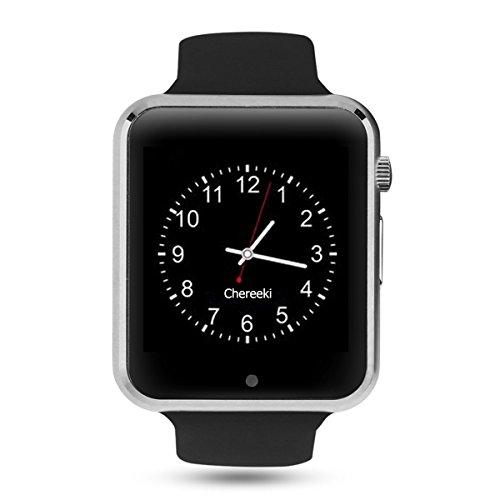 CHEREEKI Bluetooth Smartwatch [Cinturino leggero], orologio da polso Smart Touchscreen. Smart Watch Supporta SIM Card e, TF Card, pedometro, fotocamera remota, modalità sonno per Android Smartphones