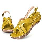 gracosy Sandalias para Mujer para Caminar Verano Plataforma Cuña Sandalias Ligero Punta Abierta Slingback Casual Comodidad Sandalias Cojín Suela Antideslizante Correa Zapatos de Playa