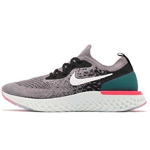 Nike Epic React Flyknit (GS), Scarpe Running Bambino, Multicolore (Gunsmoke/White/Black/Geode Teal 010), 36 EU