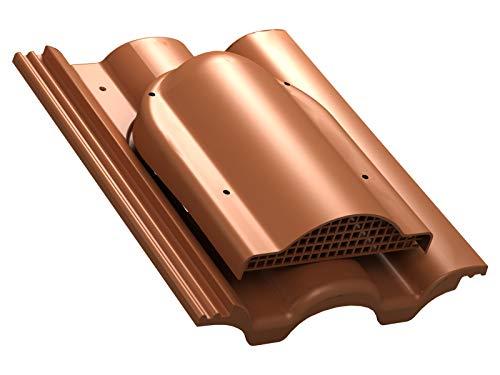 Flachlüfter für Braas - Taunus Dachlüfter Entlüfter Lüftungsziegel (RAL 8004 - Ziegelrot)