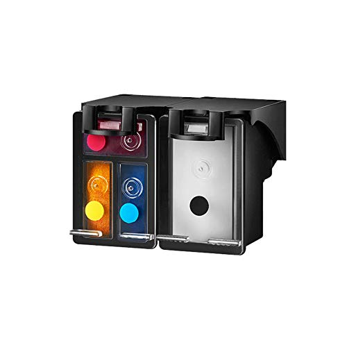 GYBN Cartuchos de Tinta Recargables de Gran Capacidad para Uso en máquinas, para Cartuchos HP 901, para Cartuchos HP 4500 J4660 j4580 J4640 J4680 Impresora 901XL Cartucho de Color negro-2-set