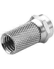 Confezione 10 PZ connettore sat F spina F sat 3,00 mm, per cavo 3,6 mm con anello impermeabile