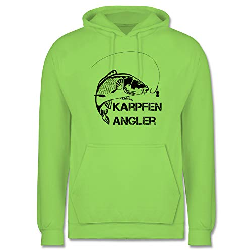 Shirtracer Angeln - Karpfen Angler - XL - Limonengrün - Geschenk für Angler - JH001 - Herren Hoodie und Kapuzenpullover für Männer