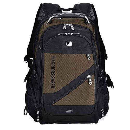 XEYOU Waterproof Backpack Outdoor Activity School Bag 16inch Computer Laptop Backpack (Coffee)