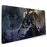 Extended Mouse pad for Souls Fans,Artorias of The Abyss Walker Shiv,Large Gaming Mousepad,Desk Mat,Waterproof Anti Slip Stitched Edges Keyboard Mat,Perfect for Office Working,90x40cm 35x16 inch