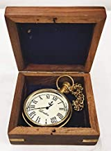 Pocket Watch with Wooden Box, Antique Style,Mens Pocket Watch, Unique Gifts by Ali Handicraft