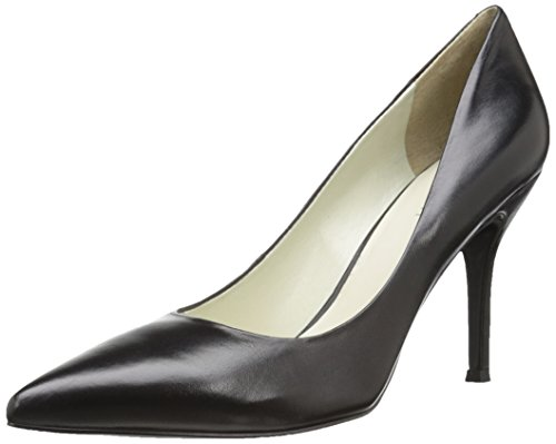 NINE WEST womens Flax Synthetic pumps shoes, Black Leather, 10.5 US