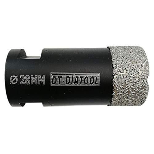 DT-DIATOOL Punte per Trapano Diamantate 28mm per Perforazione a Secco Piastrelle Porcellana Marmo Ceramica Granito