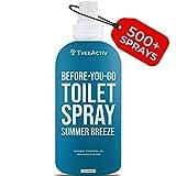 TreeActiv Before You Go Toilet Spray, Summer Breeze | Pre-Poop Mask Mist & Toilet Seat Deodorizer | Bathroom Air Freshener & Odor Eliminator | Travel Potty Spray for Public Restrooms | 500+ Sprays