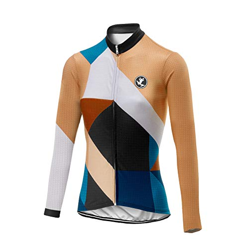 Uglyfrog Women Thermal Cycle Jersey - Long Sleeve Windproof Cycling Top - For Road Cycling and Mountain Biking