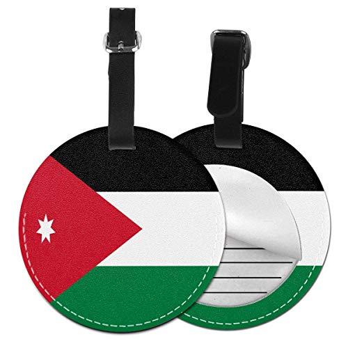 Bandera de Jordania Redonda para Equipaje de Mano, Accesorio de Viaje, Negro (Negro) - 4741035985950